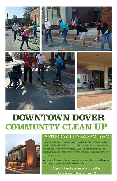 Tidemark Construction, Dover DE: Downtown Dover Community Cleanup